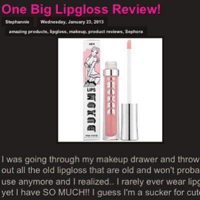 Product review on 10+ lipglosses plus my favorite one! Check it out 👉 essycreations.blogspot.com#makeup #lipgloss #lipstick #sephora #nordstrom #nars #lancome #lauramercier #urbandecay #bobbibrown #stila #bareminerals #bareesscentuals #buxom #productreviews #amazing #love