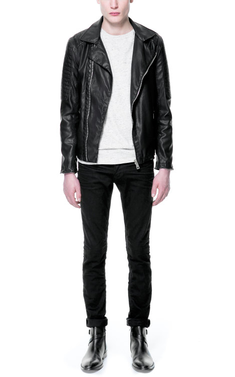 Zara Faux Leather Biker