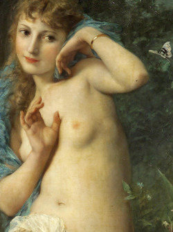 "c0ssette:  Adolphe Jourdan (French, 1825-1889), ""Le papillon"" detail."
