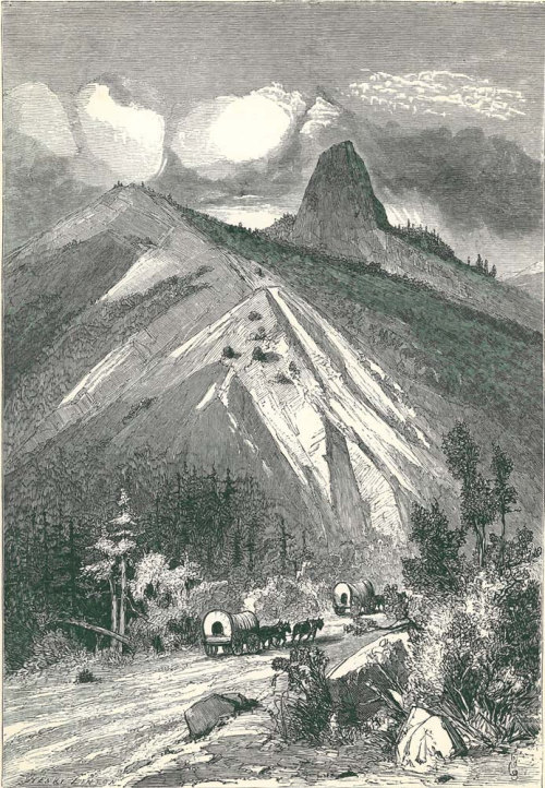 1895  Pilot Knob California Antique Print Wood Engraving Picturesque America  Swain Gifford at CarambasVintage http://etsy.me/Xyky2n