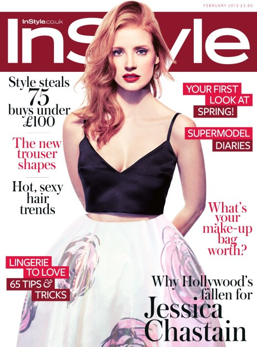 Jessica Chastain for InStyle UK (February 2013)