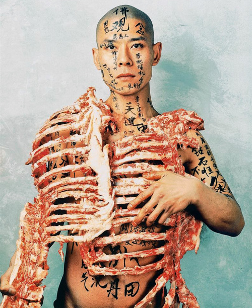 pikeys:  1/2, China, 1998 by Zhang Huan