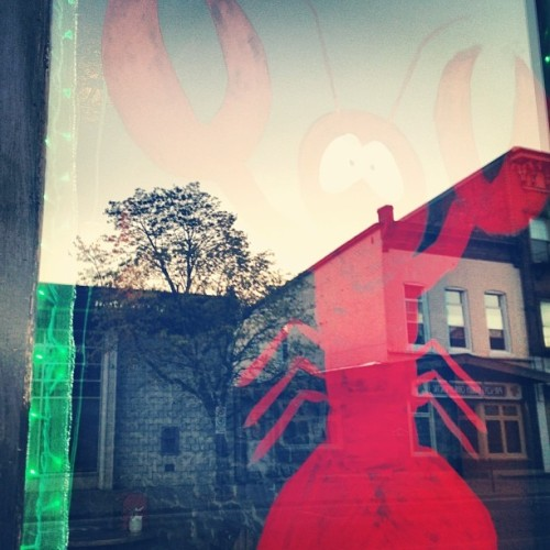 Lobster window. #seafood #bar #reflection #ontario #hashtag