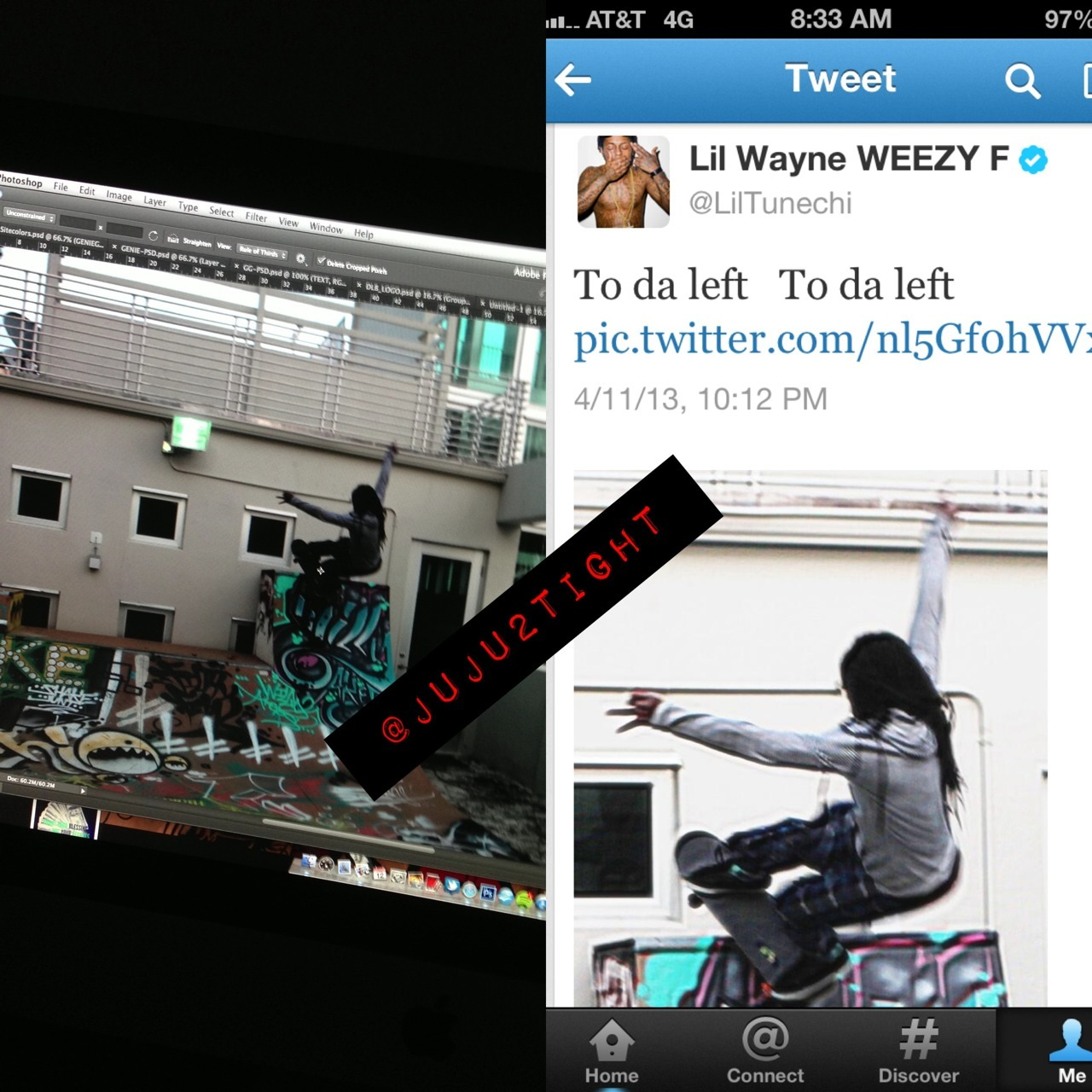 Whoop! :) Before & After - @LilTunechi. He liked it so much he had to tweet it lol