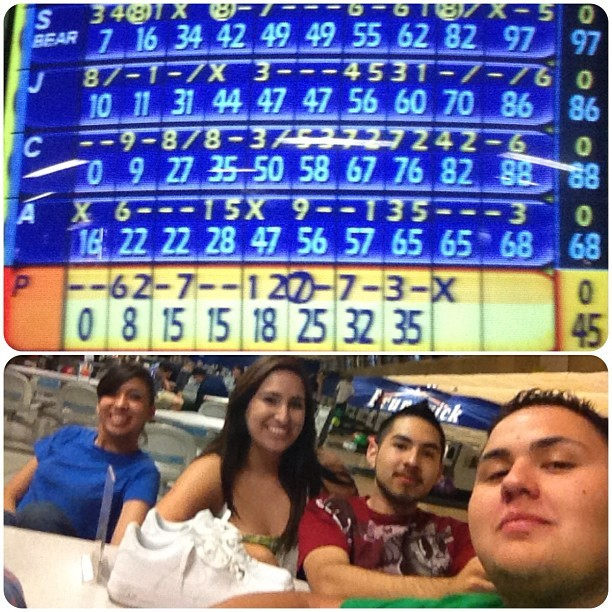 #tbt when I beat the boys in bowling Lmao @aaronal100 @theejuanforyou