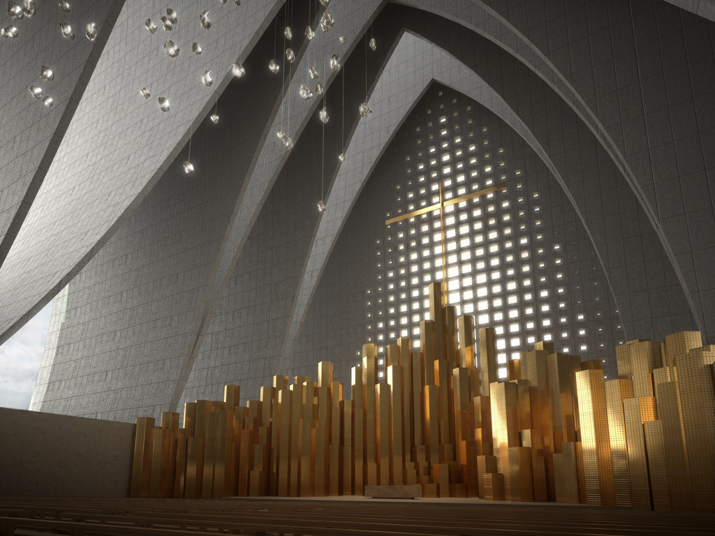 plusarchitekt:  Proposed Cathedral Fold in Strasbourg, France - Axis Mundi