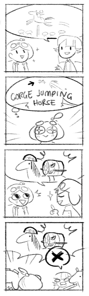 horse comic feat. Nao and Edsel again