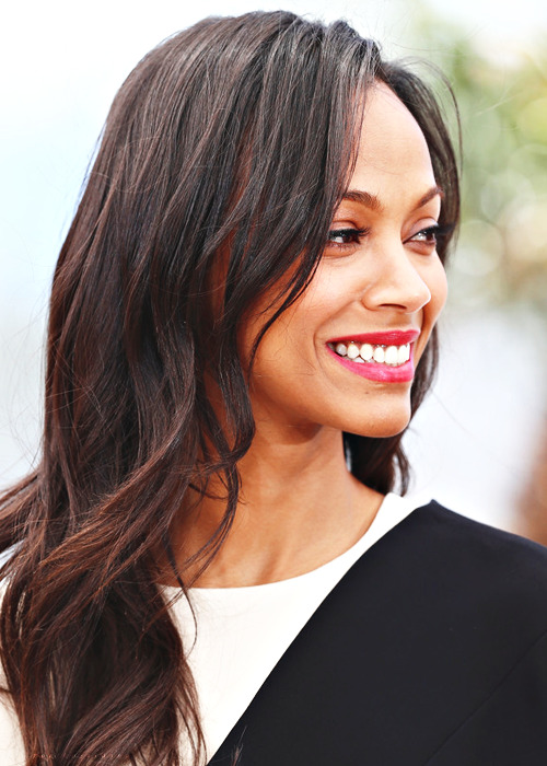 zoe saldana | blood ties photocall in cannes