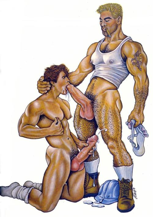 SpermWorship  homoillustrated:  Artist: RAS