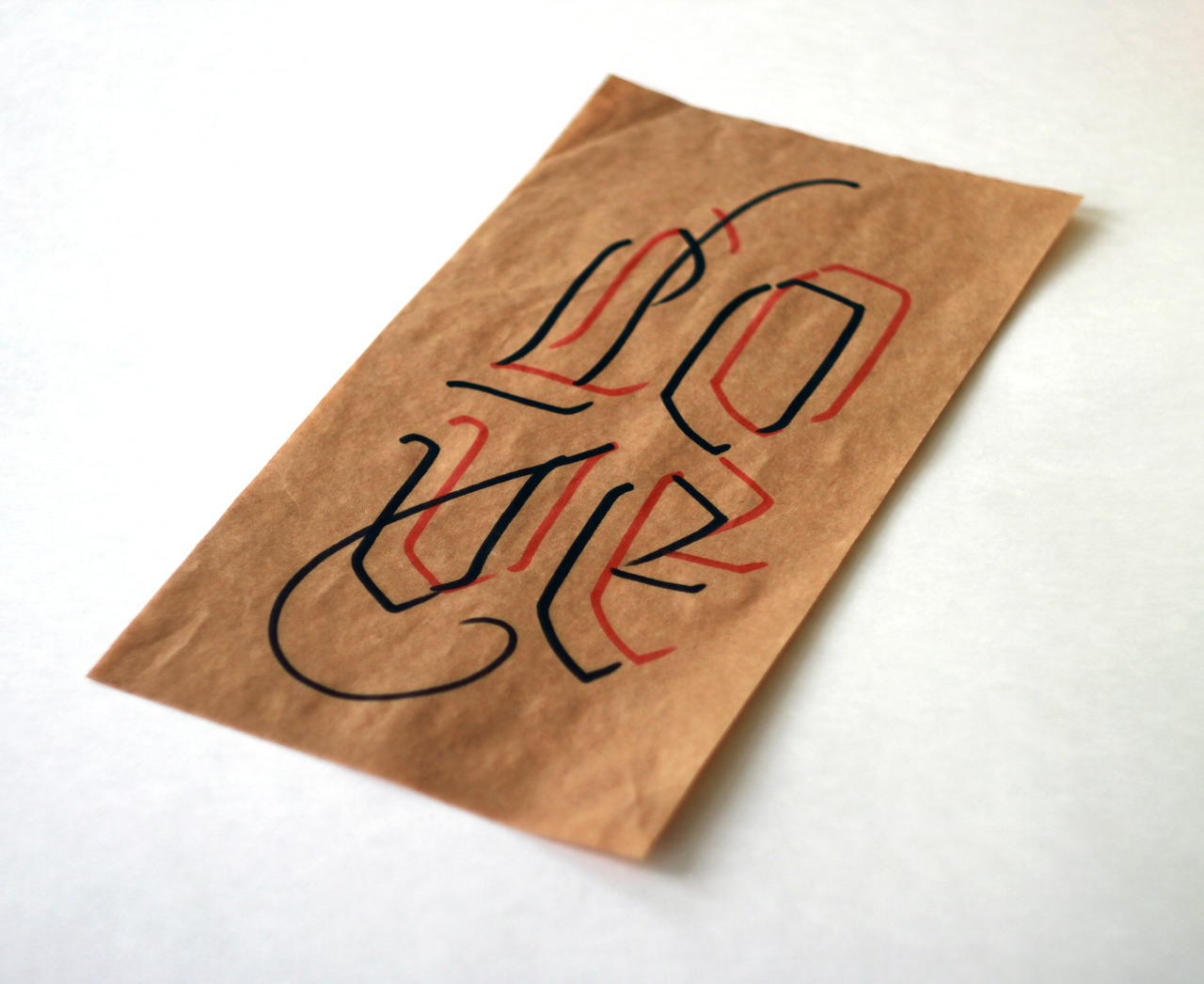 Calligraphi.ca - Love - Red and black point markers - Misha Karagezyan