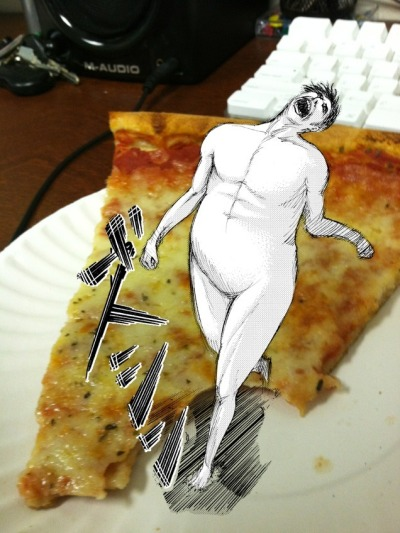 jentoldmetomakea:  Attack on pizza  Too Soon