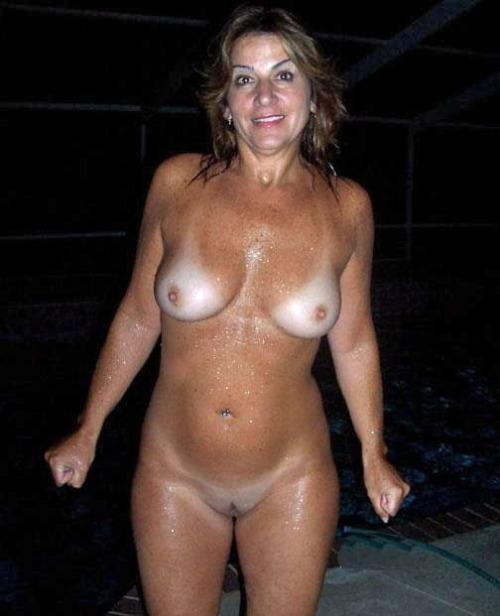Mature women skinny dipping