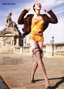 Coco Rocha shot by Marcin Tyszka for Elle France 2010