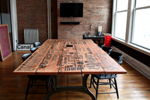 designseduces:  Silk Screened Table by Vault49