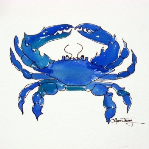 americangentility:  Chesapeake Bay Blue Crab by Laura Trevey