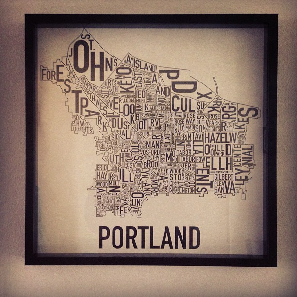 Only took me a year and a half to frame! (at Portland, Oregon)