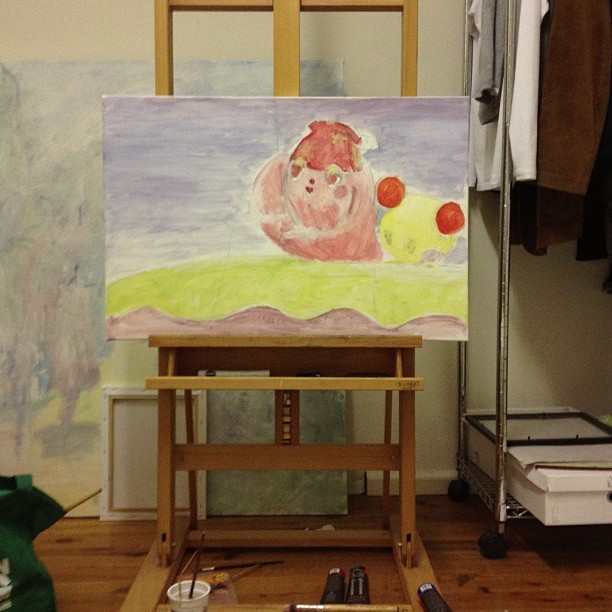leavesinatrail-gottafixitup:  i spent 7 hours in a class painting non stop and i forgot to have lunch and when i got home i kept painting…  うーたん