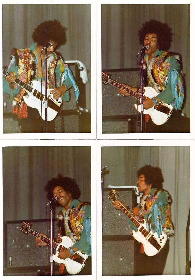 theswinginsixties:  Jimi Hendrix x 4