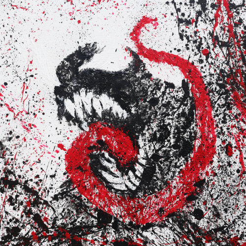 infinity-comics:  Paint Splatter - Venom on Canvas (46x55cm) by Arian Noveir (Phantom x Lord) Deviant Art - Website  - Tumblr - Facebook