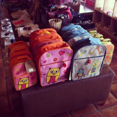 Back packs! #atown #austin #texas #boutique #store #retail #backpacks #kidstuff #forkids #oradults #backtoschool #owls #robots #cute