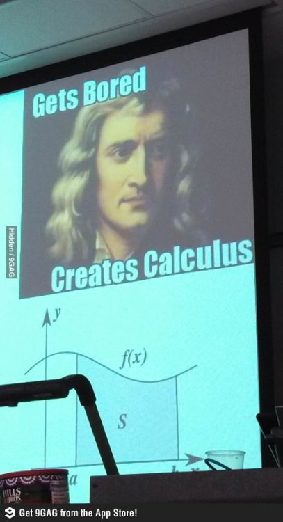 ragecomics4you:  My astronomy teacher's slide on Newton.http://ragecomics4you.tumblr.com