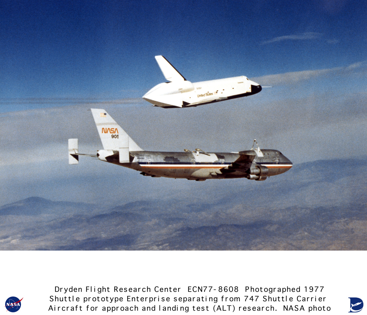 flying-fortress:  Enterprise OV-101 on a test flight