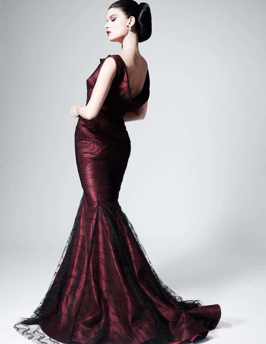Crystal Renn for Zac Posen Pre-Fall 2013