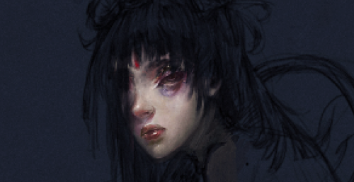 WIP screenshot of first digital painting in…? Three months? About time. I'm kind of excited about this because I drew feet without reference for the first time ever. But now I'm probably going to work on it for a week so have this as anticipation (thinking of making this into a HA?)