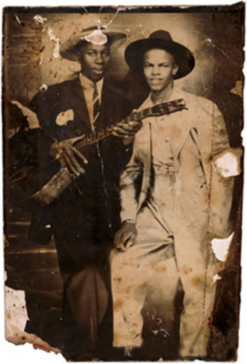 rootsnbluesfestival:  Robert Johnson and Johnny Shines