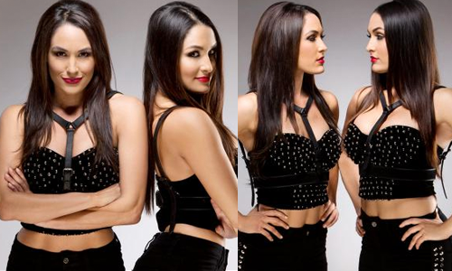 New WWE.com photoshoot feat. Brie & Nikki Bella: click here.