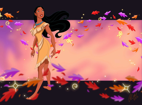 """Paint with all the colors of the wind."" Indian princess, Pocahontas."