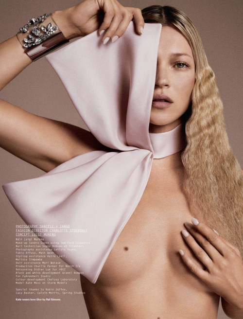 Inspiration: Kate Moss by Danielle & Iango. ID Magazine.