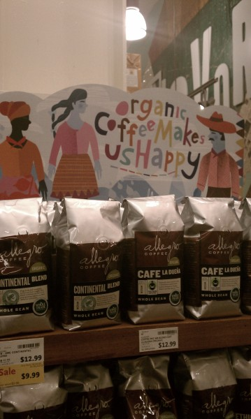 "Whole Foods Market sells its own brand of organic coffee using one-dimensional depictions of the people of color (presumably coffee pickers) and the text ""organic coffee makes us happy"" rendered over them in a playful font (you know, to convey a child-like innocence). Needless to say, this is racist as shit, normalizing of neo-colonialism and predatory international capitalism, erasing of the narratives of actual farm workers, infantilizing of people of color particularly farm workers, and all kinds of other fucked up. This is a big 'ol FUCK YOU from me to you right here, Whole Foods Market."