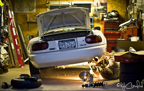 photofinish: Mazda Miata Suspension. (via Kyle Crawford) Coilovers. BTDT.