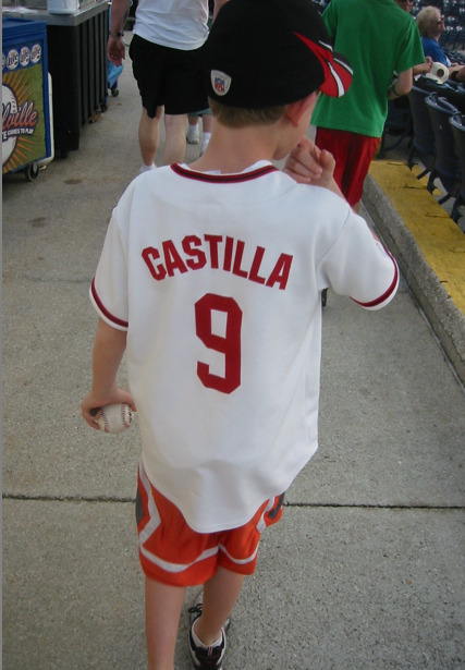 Vinny Castilla, Washington Nationals: You hate to blame the parents, but this kid just doesn't know any better.  (Found by Matt at Dodgertown.)