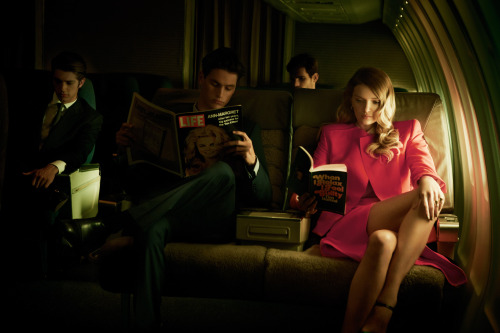 "stormtrooperfashion:  Lily Donaldson in ""LA:The Plane Story"" by Serge Leblon for 10 Magazine #46,Spring/Summer 2013"