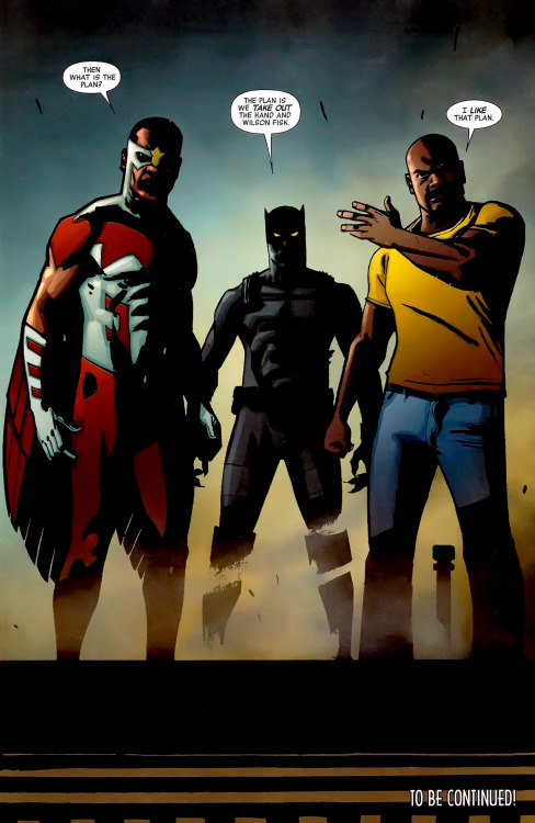 hedownwithskeletor:  Falcon, Black Panther, Luke Cage Black Panther - The Most Dangerous Man Alive #526 Shawn Martinbrough/Felix Serrano  My links (follow me):More of Marvel: www.nomalez.tumblr.com/tagged/marvel