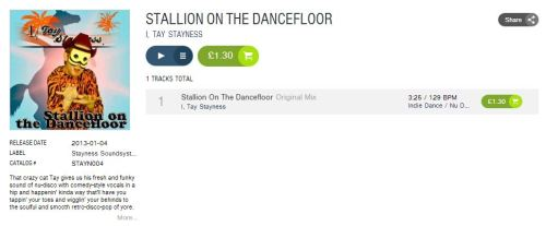 Stallion On The Dancefloor. OUT NOW ON BEATPORT! Get your copy today!! Click here!