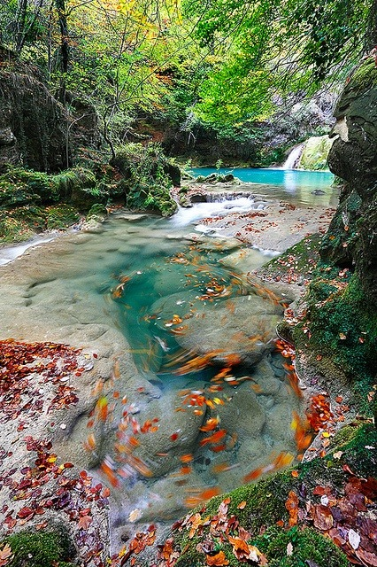 awesome-images-travel-places:  Movimiento en el Rio Urederra (Urederra Movement)