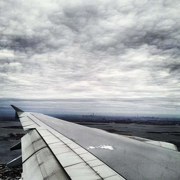 Good to be back to NYC. #nyc #newyork #sky #cloud #cityscape #flight