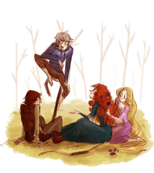 shaburdies:  i saw some fanart of these four going around and it's so cute! doodled them for fun :D  I just really like the idea of all of them hanging out together.