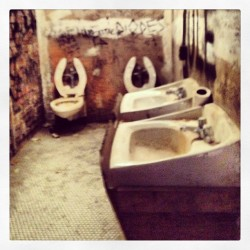 I almost got kicked out of the Met for this. CBGB toilets. It's art. (at Punk Chaos To Couture at The Metropolitan Museum of Art)