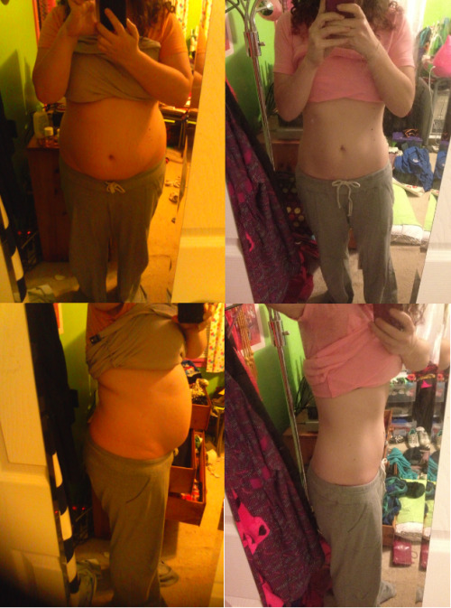 "beforeandafterfatlosspics:  lindsat it has officially been one year since i decided to get healthy and lose weight! i started counting calories using myfitnesspal and running using the couch to 5k app!  it hasn't always been easy and now it's more about learning to maintain my weight and improve my running. i'm so happy to see how far i've come and i truly am proud of myself. when i started i could hardly even run for 1 minute straight without being out of breath, now i can run an 8k and feel awesome about it afterwards! anything really is possible if you have dedication and motivation :) before - march 2012 -186.5 after - march 2013 -129.8 (i'm 5'4"" by the way)"