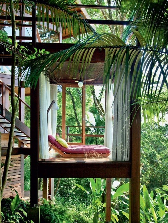 justthedesign:  Reading Room In The Jungle