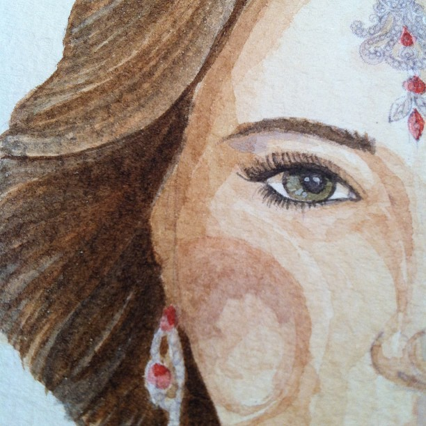 Close up  #fashion #painting  #bridal #model #indian #bride #sketch #diamond #ruby #beautiful #elegant #luxury #wedding #mitikasillustrations #illustration #tweegram  #instagood  #love  #iphonesia #photooftheday  #instamoode  #igers #iphoneonly  #iphoneonly  #instagramhub #picoftheday  #jj   #instadaily #bestoftheday  #igdaily