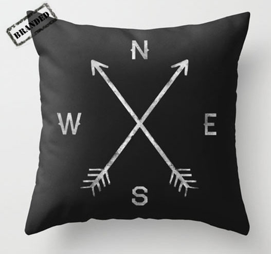 This Compass throw pillow by Zach Terrell probably won't help my abysmal sense of direction, but at least if I lay my head on it long enough I can say I've absolutely tried everything. buy.