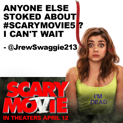 Scary Movie 5 is now in theaters! LIKE and SHARE if you're stoked to see it this weekend!