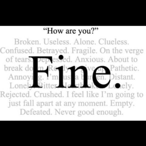 I'm FINE dont worry #love #TagsForLikes #TFLers #tweegram #photooftheday #me #instamood #cute #iphonesia #fashion #summer #tbt #igers #picoftheday #food #instadaily #instagramhub #beautiful #girl #iphoneonly #instagood #bestoftheday #jj #sky #picstitch #follow #webstagram #sun #nofilter #happy