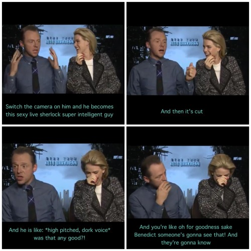 mylozoeloto:  Simon Pegg on Benedict Cumberbatch