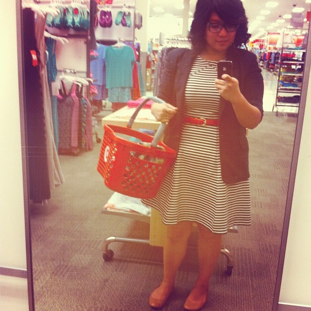 Work #ootd- vintage blazer, @joefresh @jcpenney dress, @targetstyle leather flats